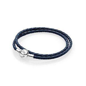 ✨ NWOT Navy Double Braided Bracelet | Pandora